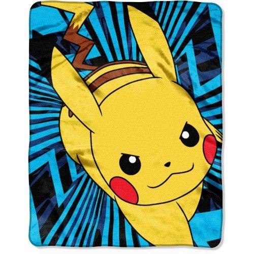 """Pokemon, Zip Pika 40"""" x 50"""" Silk Touch Throw"""