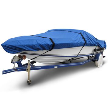 Ripstop 16 ft. to 19 ft. (Beam Width to 102 in.) Blue V-Hull Fishing Boat Cover Size BT-5