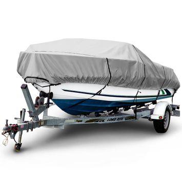 Sportsman 600 Denier 20 ft. to 22 ft. (Beam Width to 106 in.) Gray V-Hull Fishing Boat Cover BT-6