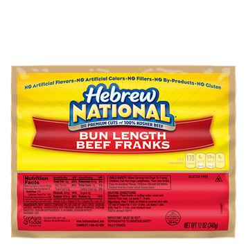 Hebrew National Bun Length Beef Franks