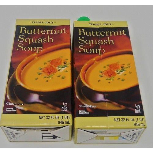 Butternut Squash Soup Gluten Free 2 Packs Each 32 Oz Trader Joes