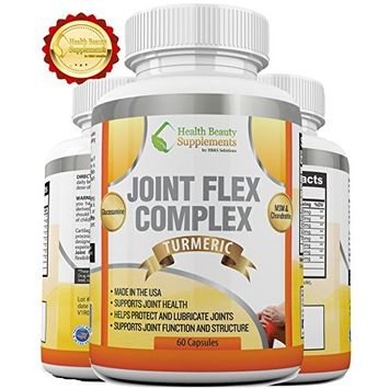_ HB&S Solutions Joint Flex Complex   for Men & Women   Gluten Free Joint Pain Relief   Glucosamine with Chondroitin Turmeric MSM Boswellia   Anti Inflammatory Supplement   60 Capsules