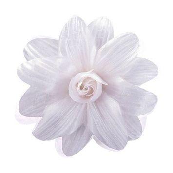 Sara Monica Flower Hair Clip and Pin Dahlia_Orange