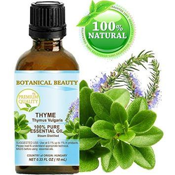THYME ESSENTIAL OIL. 100% Pure Therapeutic Grade, Premium Quality, Undiluted. 0.33 Fl.oz.- 10 ml.