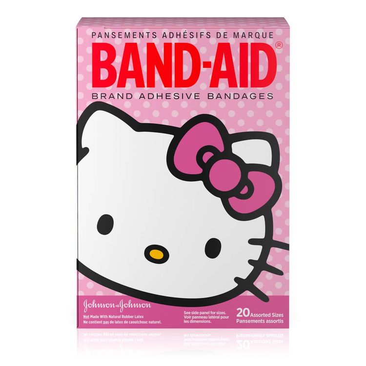 BAND-AID® Brand Adhesive Bandages, featuring Hello Kitty, 20 Count