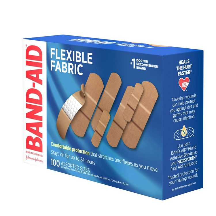 BAND-AID® Brand Flexible Fabric Bandages Assorted