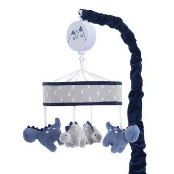 Lambs & Ivy Baby Dino Musical Baby Crib Mobile