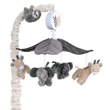 Lambs & Ivy Baby Jungle Musical Baby Crib Mobile