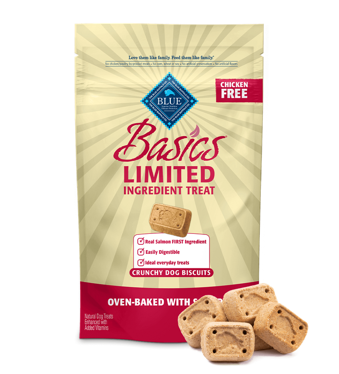 Blue Basics Dog Treats Salmon & Potato Biscuits