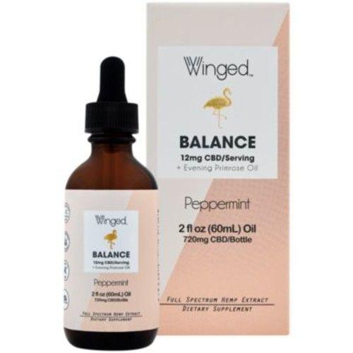 CBD Balance Full Spectrum Hemp Extract Oil with Evening Primrose Oil - 12 MG - Peppermint (2 Fluid Ounces)