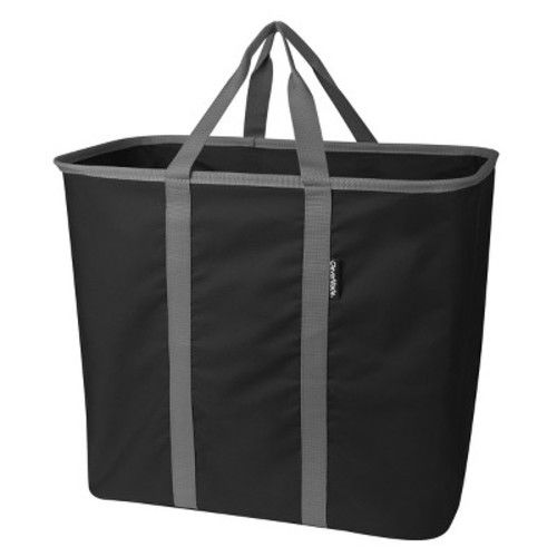 CleverMade SnapBasket CarryAll XL 64L Collapsible Laundry Basket/Tote - Black/Charcoal