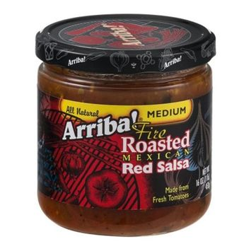 Arriba! Fire Roasted Mexican Red Salsa Medium 16 Oz(Pack of 3)