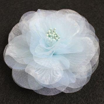 Sara Monica Flower Hair Clip and Pin Beauty_Light Blue