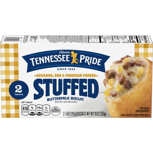 Odom's Tennessee Pride Sausage, Egg & Cheese Stuffed Biscuits, 10 Ounce (2-Count Package)