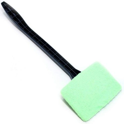 """LavoHome Easy Wipe Microfiber Magic Windshield Cleaner Wand 15.5"""" Long Handled Cleaning Tool and Terry Bonnet Automotive Easy Reach for Car Automobile Windows Television Screens Mirrors Windows"""