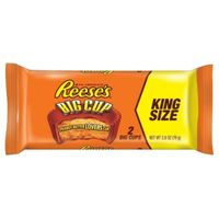 REESE'S Peanut Butter Cups, Chocolate Candy, Big Cup, King Size (Pack of 16)