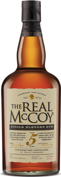 The Real McCoy 5 Year Single Blended Aged Rum, 80 Proof