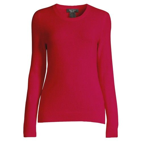 Lord & Taylor - Essential Cashmere Crewneck Sweater [name: actual_color value: actual_color-gypsyred]