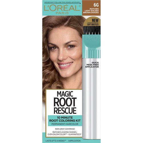 L'Oreal Paris Magic Root Rescue 10 Minute Root Hair Coloring Kit, 6G Light Golden Brown, 1 kit