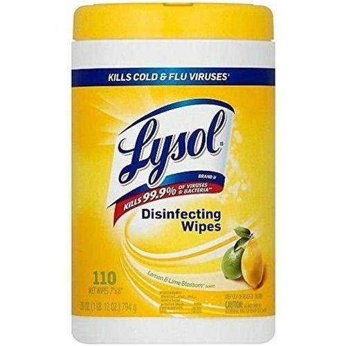 Reckitt Benckiser 192008215915 Lysol Disinfecting Wipes Lemon & Lime Blossom - Case of 12