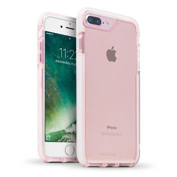 BodyGuardz Ace Pro Case featuring Unequal (Pink/White) for Apple iPhone 7 Plus and iPhone 8 Plus