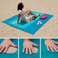 Drap de plage anti-sable Xxl 200 x 150 cm - Bleu