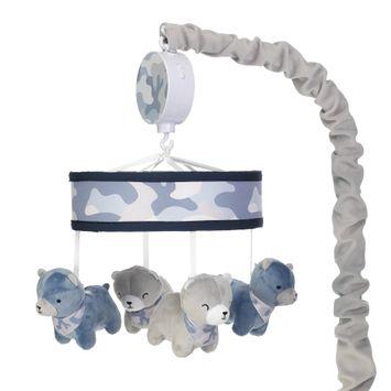 Blue Camo Musical Baby Crib Mobile