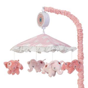 Boho Elephant Musical Baby Crib Mobile