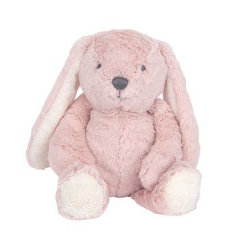 Lambs & Ivy Signature Botanical Baby Plush Pink Bunny Stuffed Animal Toy - Hip Hop