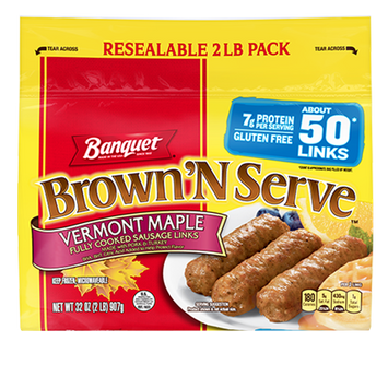 Banquet Brown 'N Serve Vermont Maple Links