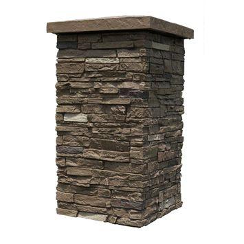 30 in. x 16 in. Faux Polyurethane Stone Column Wrap (4-Piece)