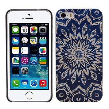 Doinshop (TM) Cute Fashion Blue Aztec Tribal Pattern Hard Skin Case Cover for iPhone 5 5S 5G