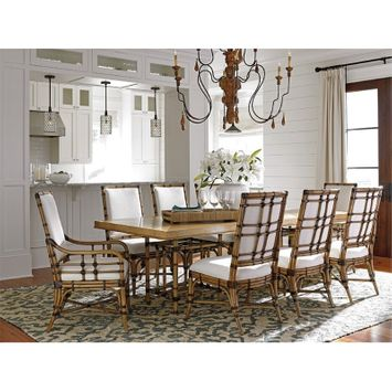 Tommy Bahama Twin Palms Caneel Bay Extendable Dining Table in Brown