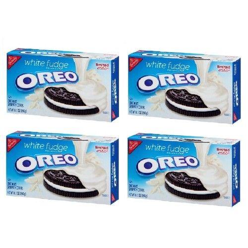 Nabisco, Oreo, White Fudge Covered Oreos, Limited Edition, 8.5oz Box (Pack of 4)