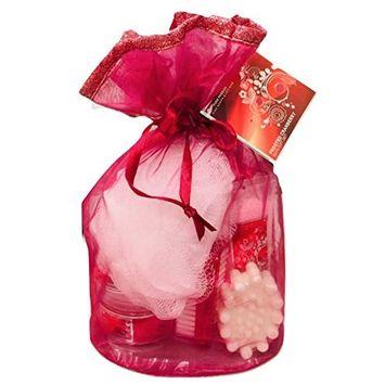 Mother's Day Beauty Bath Shower Gift Set - Frosted Cranberry Shower Gel   Body Lotion   Body Scrub   Bath Salts   Bath Soap