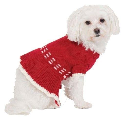 """Preppy Strip Dress - Red Extra Small 8"""""""
