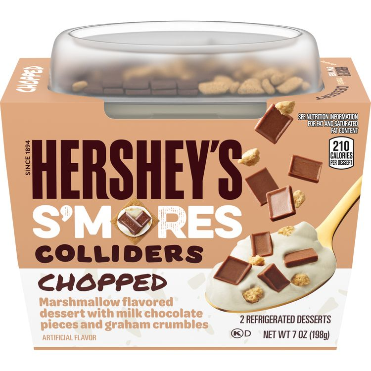 COLLIDERS Chopped HERSHEY'S S'mores Refrigerated Dessert, 2 ct. Sleeve