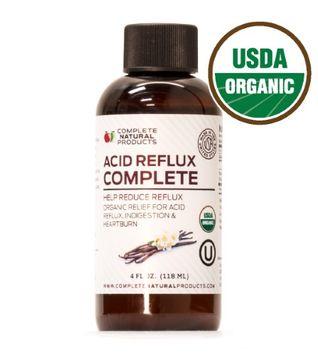 Complete Natural Products Acid Reflux Complete 4oz - Organic Liquid Heartburn Remedy, Gerd, & Reflux Relief Medicine
