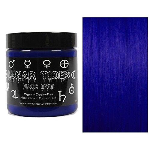 Lunar Tides Hair Dye - Blue Velvet Dark Blue Semi-Permanent Vegan Hair Color (4 fl oz/118 ml)