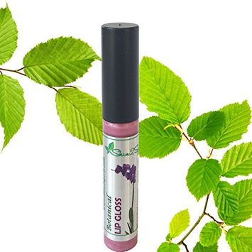 Botanical Healing Lip Gloss (ORCHID SHINE) Natural | Organic | Cruelty Free | Smooth, Velvety Feel | Dual Purpose | Smells Great! | COLOR: Medium, Frosted Pink