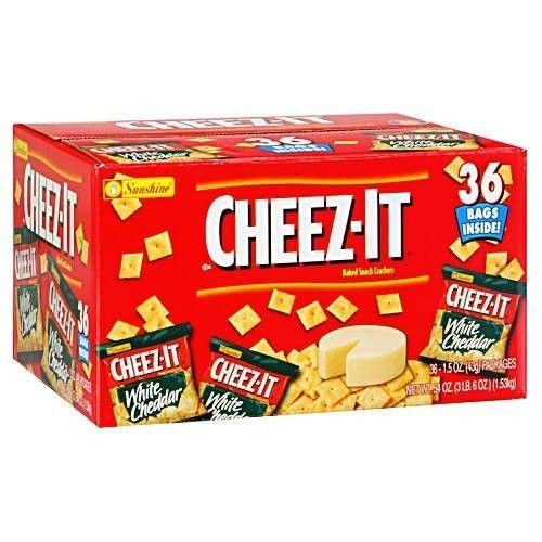 Sunshine Cheez-It White Cheddar - 36/1.5 oz.