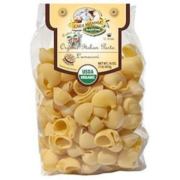 Organic Lumaconi Italian Pasta (Pack of 2) - Speciality Pasta - 100% Organic Durum Semolina Pasta