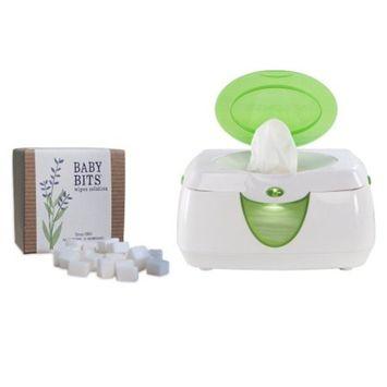 Baby Bits Wipes Solution with Warm Glow Wipe Warmer