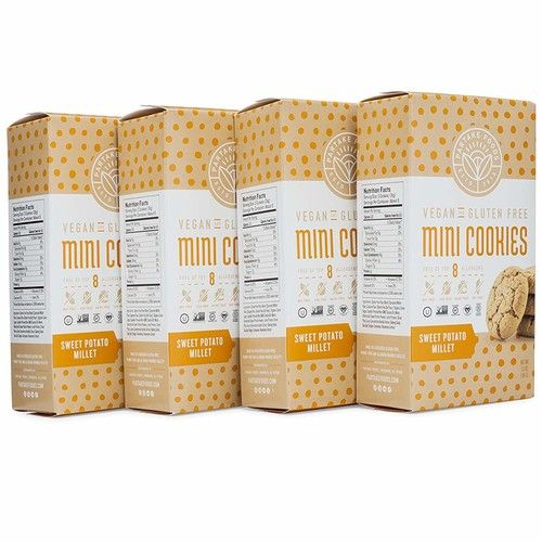 Partake Crunchy Cookies - GingerSnap | 4 Boxes | Vegan & Gluten Free | Free of Top 8 Allergens - Dairy, Peanuts, Tree Nuts, Eggs, Wheat, Soy, Fish, & Crustacean Shellfish | 15 Cookies Each [GingerSnap]
