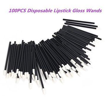 G2PLUS Lip Gloss Applicators, 100 PCS Disposable Lip Brushes Lipstick Gloss Wands Applicator Perfect Makeup Tool Kits