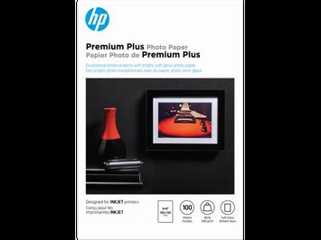 HP Premium Plus Glossy Photo Paper-100 sht/4 x 6 in, CR666A