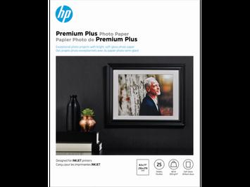 HP Premium Plus Soft-gloss Photo Paper-25 sht/Letter/8.5 x 11 in, CR671A