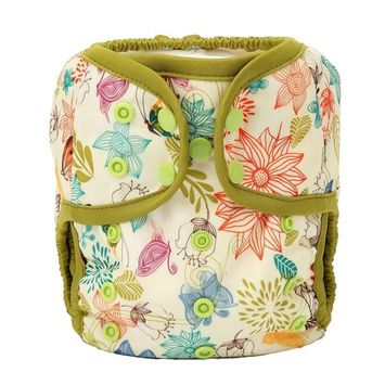 One Size Cloth Diaper Cover Snap With Double Gusset