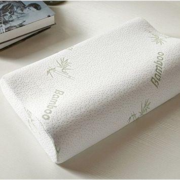 Special Design 100% Bamboo Fiber Slow Rebound Memory Foam Pillow Neck Cervical Healthcare Pillows