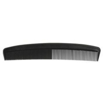 7 Inch Black Plastic Comb Pack of 12 [12]
